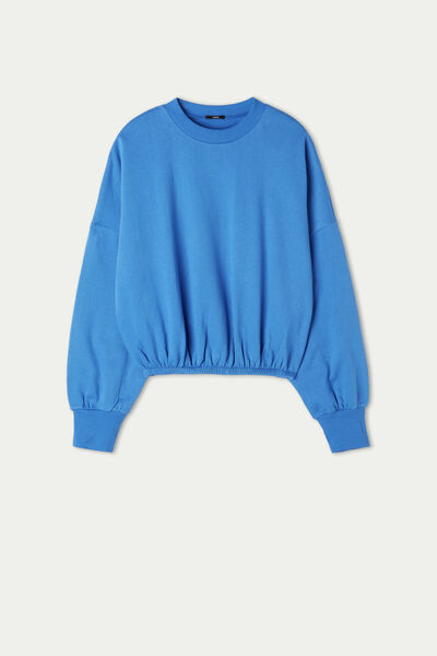 Krótka Bluza z Szerokimi Rękawami