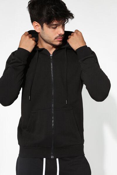 Bluza Basic z Kapturem i Kieszenią