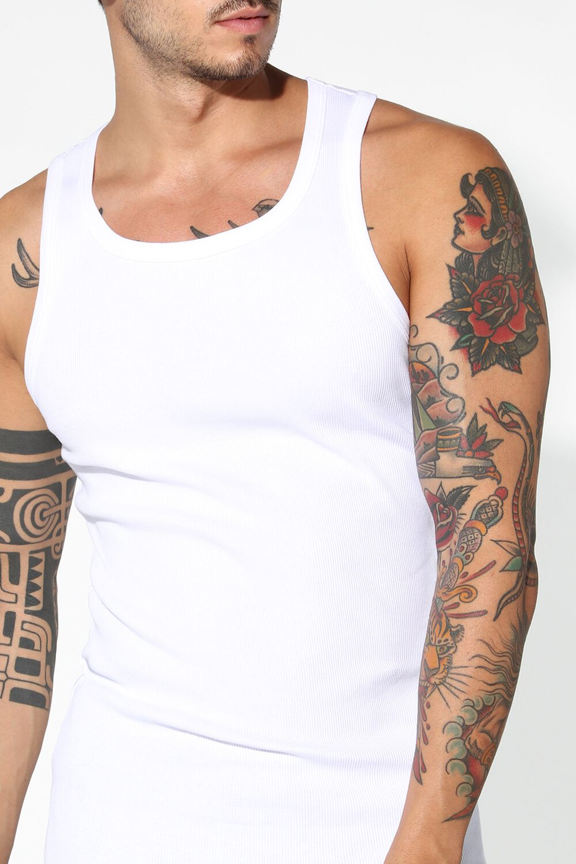 Ribbed Cotton Vest Top
