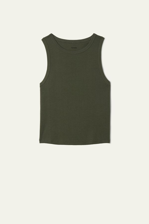 Short Ribbed Sporty Camisole