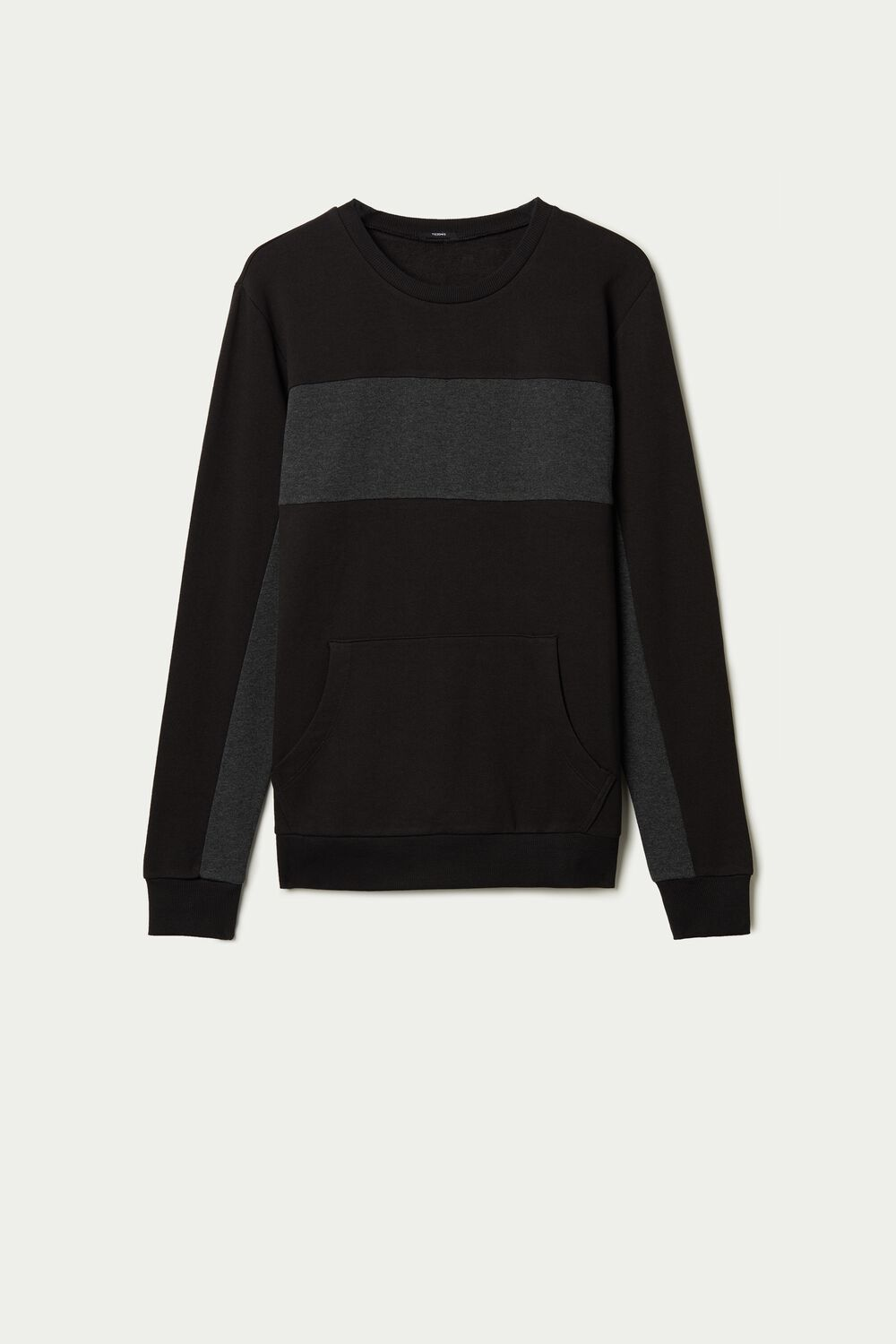 Two-Tone Cotton Sweatshirt with Pocket