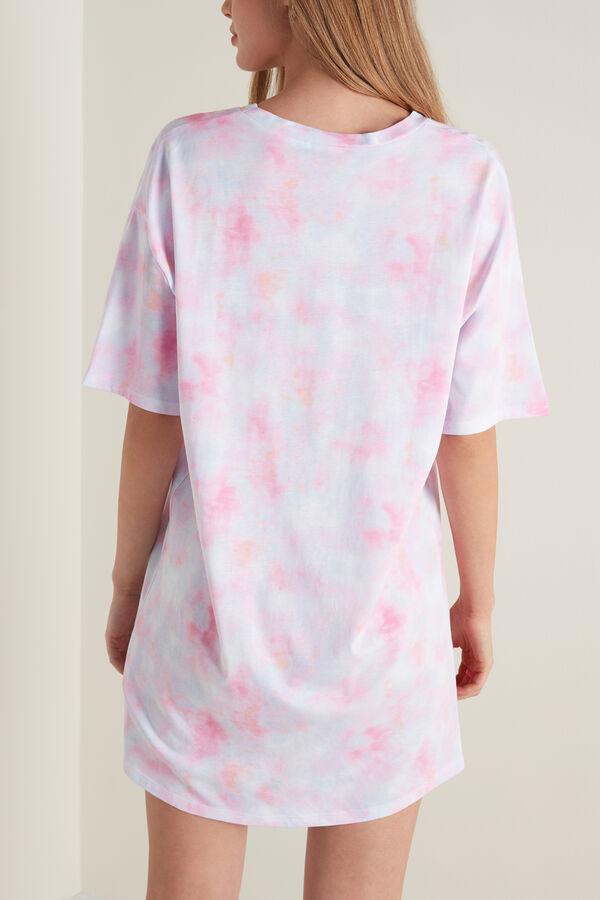 Ночная Рубашка с Короткими Рукавами и Принтом Tie&Dye