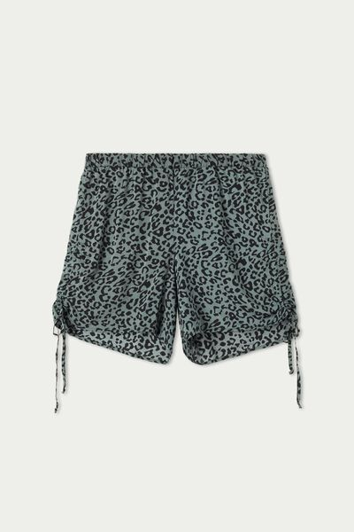 Canvas Side Drawstring Shorts