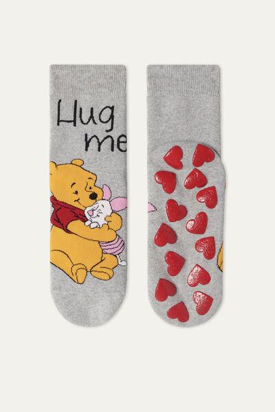Winnie the Pooh Print Non-Slip Socks