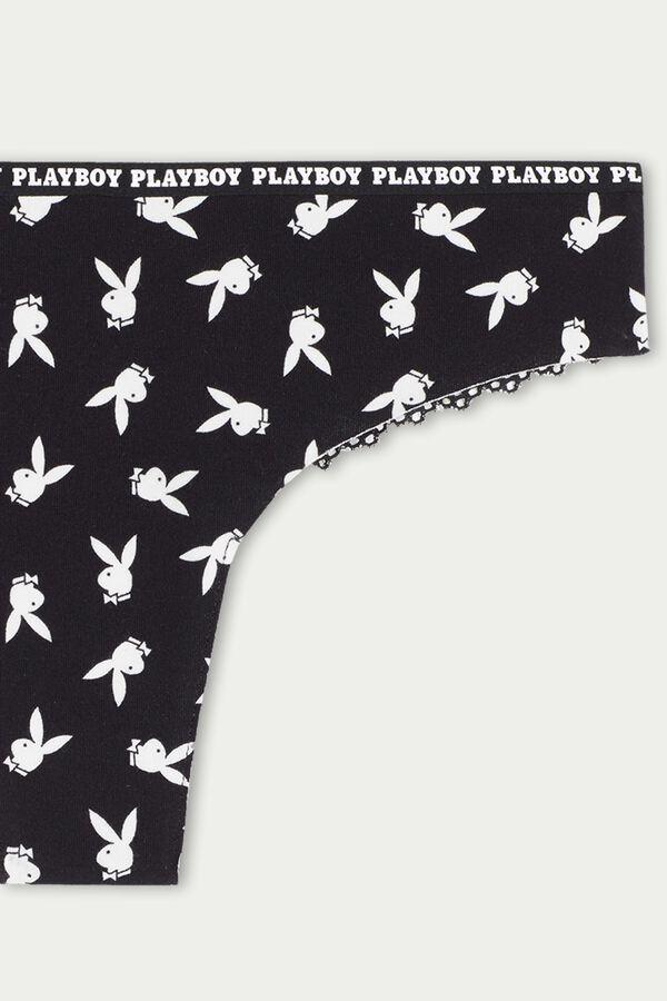 Bezšvové Brazílske Nohavičky z Bavlny a Čipky Playboy