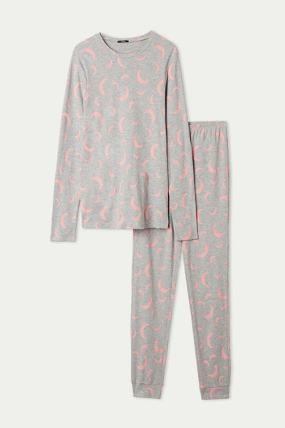 Pyjama Long Coton Imprimé Lunes
