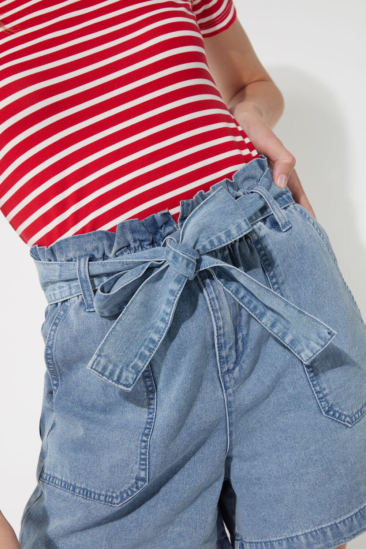 Denim Shorts with Sash