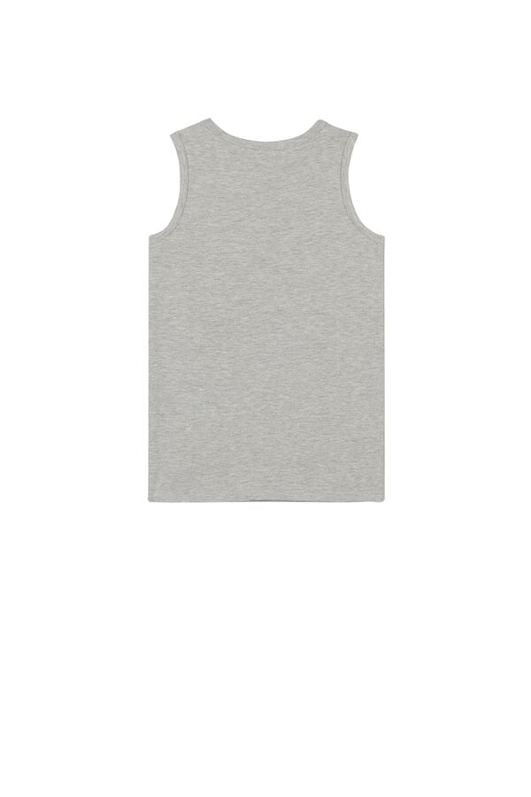 Wide-Strap Thermal Cotton Tank Top
