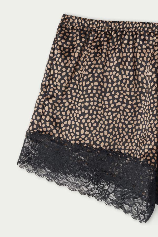 Satin and Lace Shorts