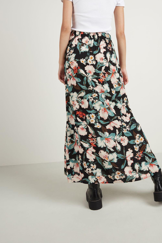 Long Flounced Skirt with Split