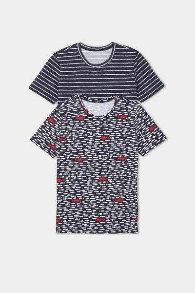2 X Unisexové Bavlněné Tričko s Krátkým Rukávem