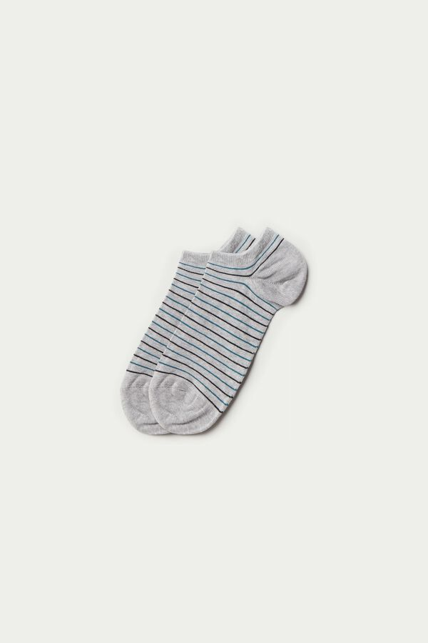 Patterned Cotton Trainer Socks
