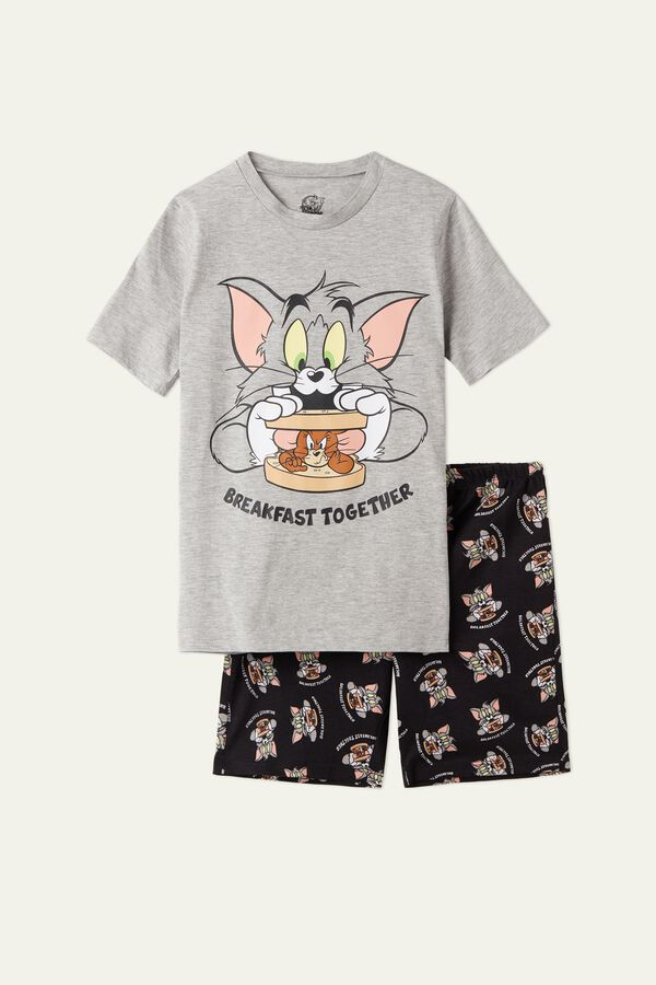 Tom and Jerry Breakfast Short Cotton Pyjamas