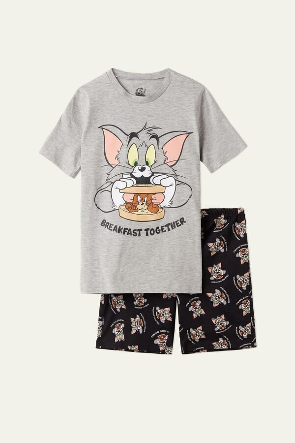 Pigiama Corto Cotone Tom and Jerry Breakfast
