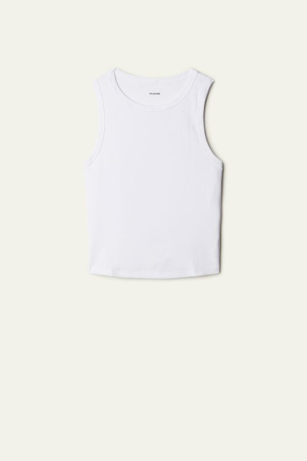 Sporty Ribbed Short Camisole