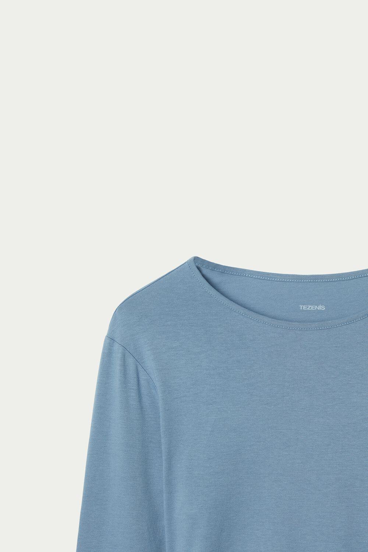 Camiseta Algodón Manga Larga Punto de Muñeca