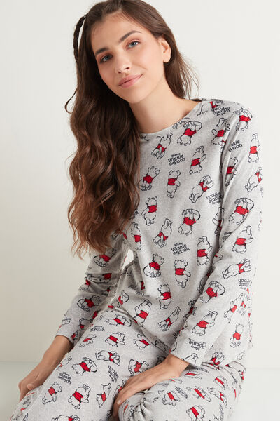 Dlouhé Pyžamo z Mikroflísu Medvídek Pú