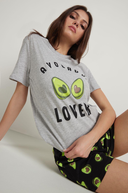 Короткая Пижама с Принтом «Авокадо»