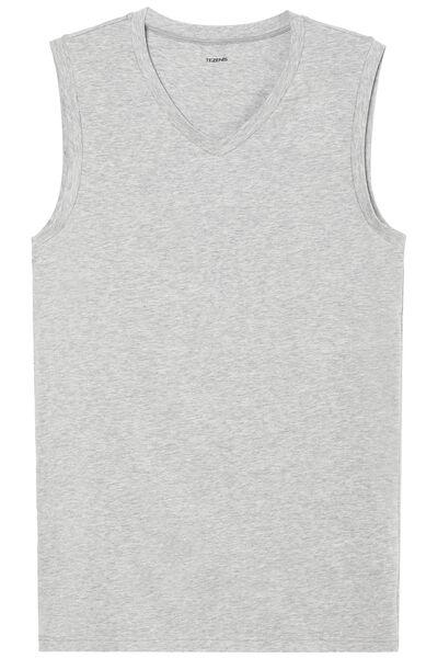 V-Neck Stretch Cotton Undershirt