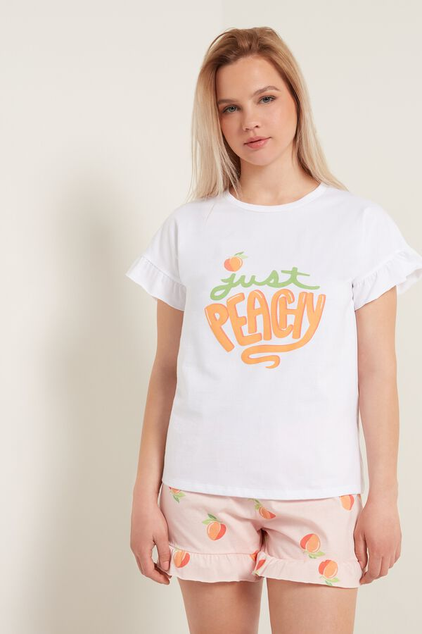 Pyjama Court en Coton Imprimé «Peachy»