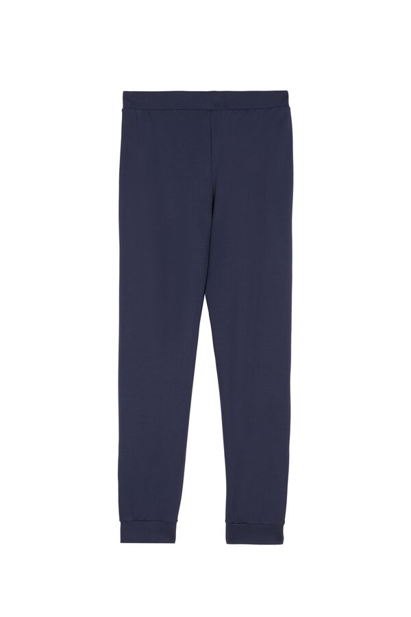 Milano Stitch Joggers with Buttons at the Hem