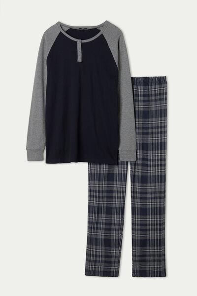 Langer Serafino-Pyjama für Herren