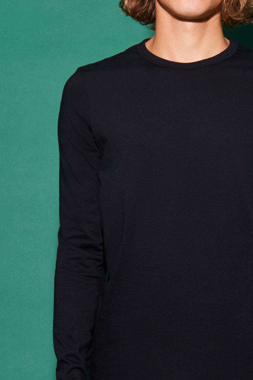 Langarm-Shirt Rundhals Baumwolle