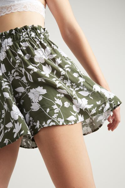 Canvas Skort with Ruching
