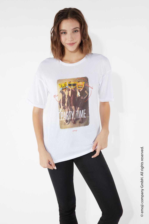 Bavlněné Tričko s Emodži