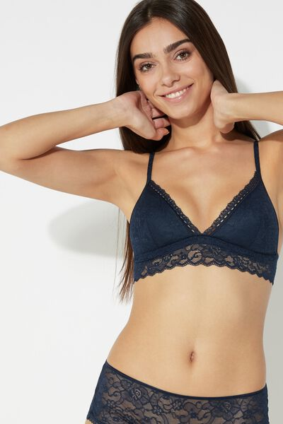 London Special Triangle Bra in Lace with Removable Cups