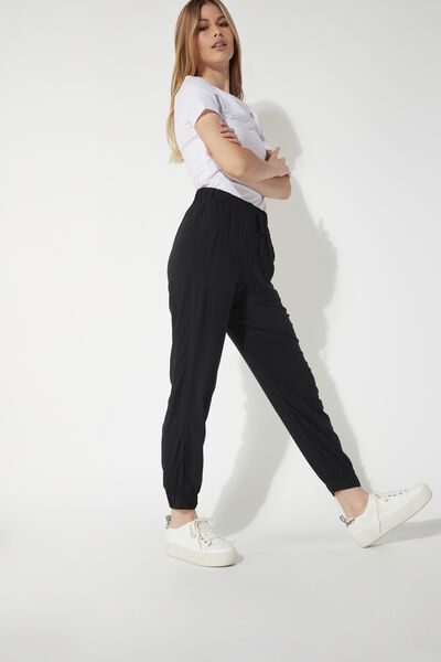 Fabric Jogging Pants with Pockets