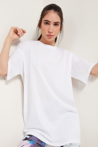 T-shirt Long en Coton Over