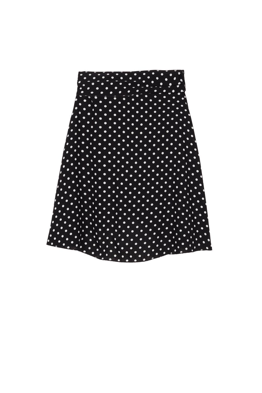 Short Fabric Skirt with Slit