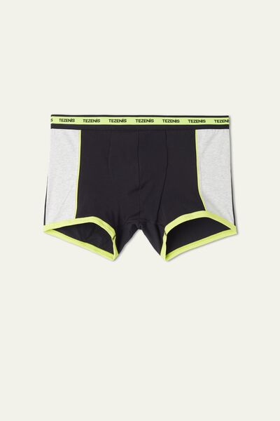 Two-tone Cotton Boxers with Logoed Elastic