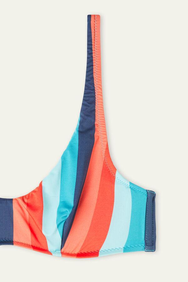 Bikini Balconette con Rayas de Colores