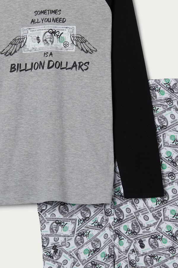 Mens Dollar Print Pajama Set