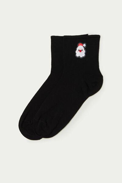 Короткие Хлопковые Носки без Резинки, с Рисунком