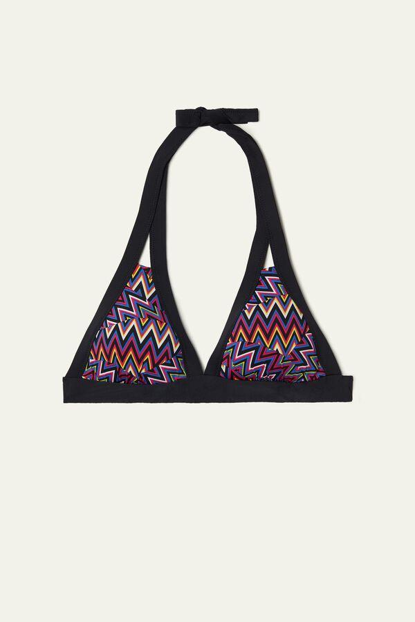 Pop Chevron Triangle Bikini Top