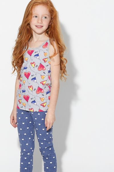 Heart-Print Cotton Leggings