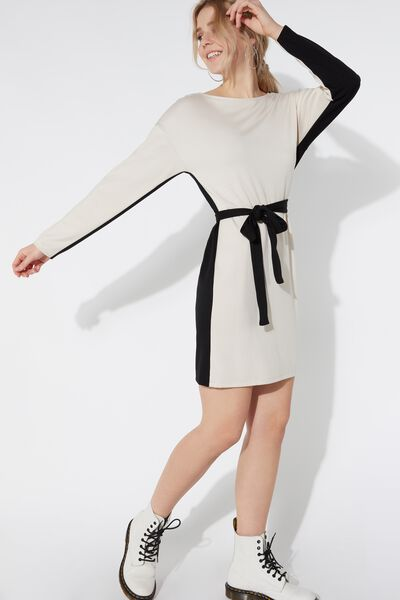 Milano Stitch Dress with Sash