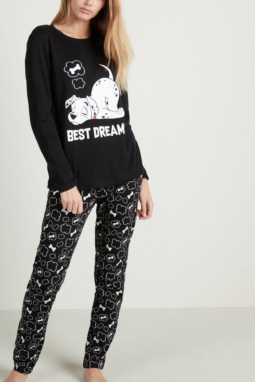 "Disney 101 ""Best Dreams"" Print Long Cotton Pyjamas"