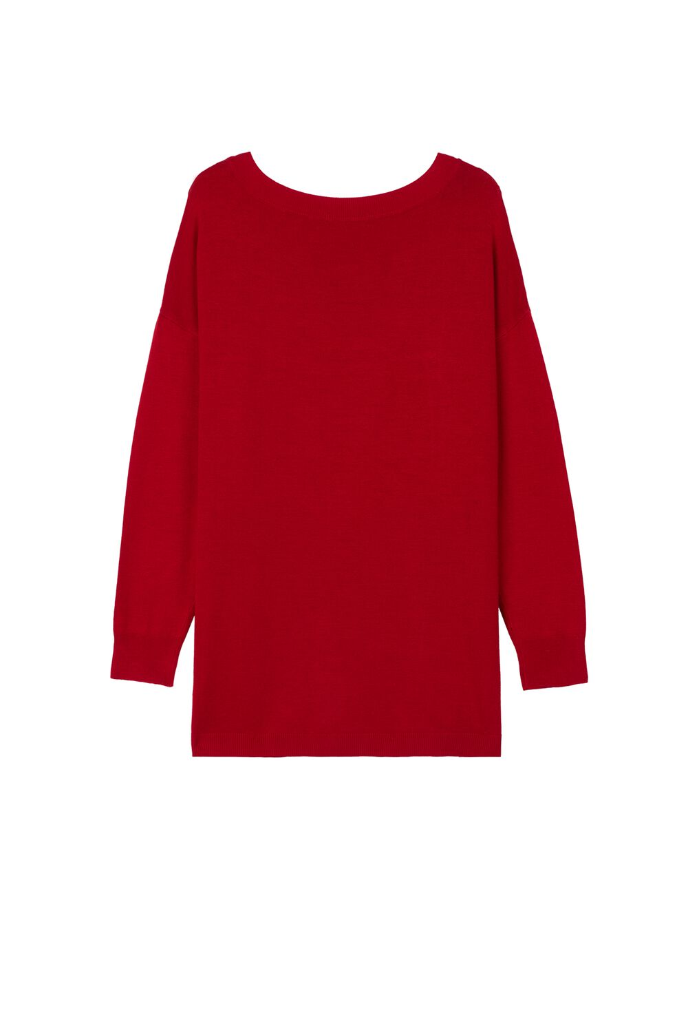 Long-Sleeved Boat Neck Top