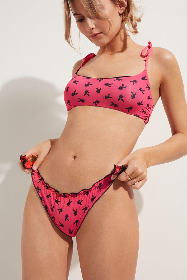 Playboy Crinkled Bikini Bottoms
