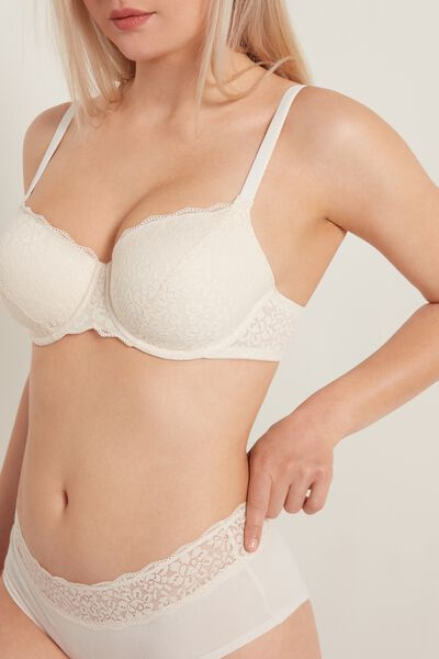 Praga Full-Coverage Balconette Bra in Recycled Lace