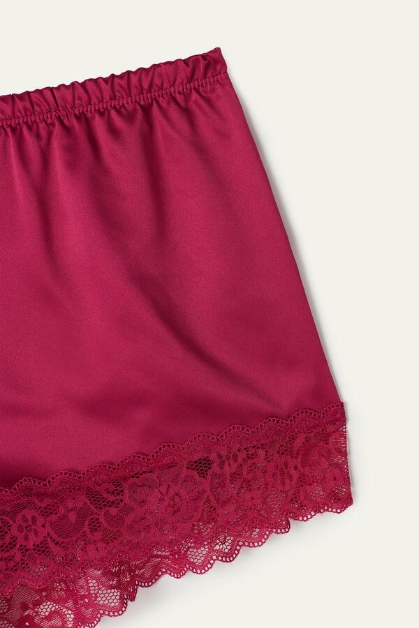 Krajkové Saténové šortky