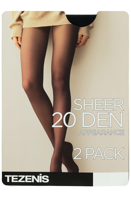 2 X 20 Den Sheer Tights