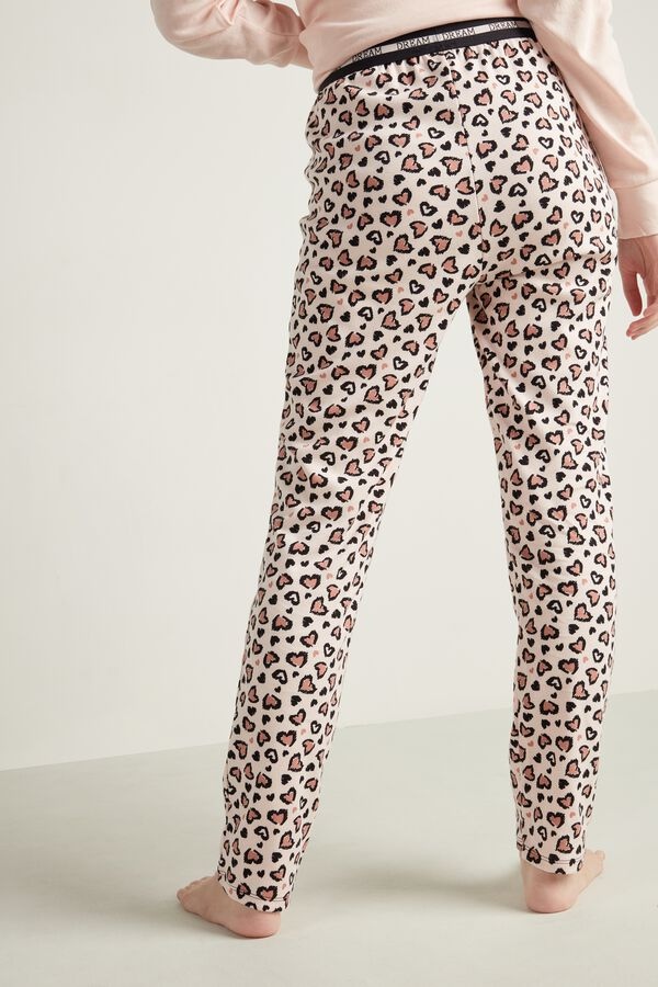 Long Printed Cotton Trousers