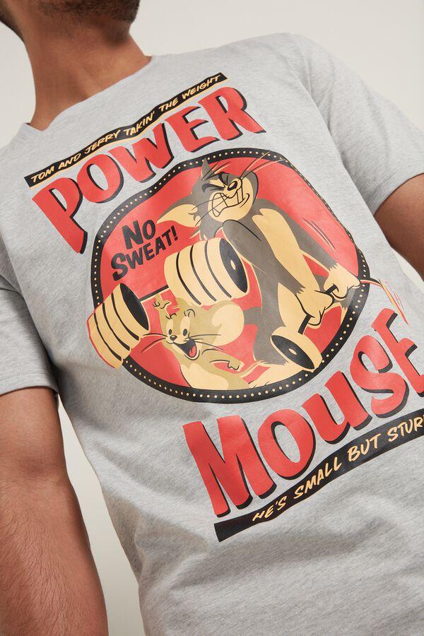 Bavlněné Tričko s Potiskem Tom and Jerry