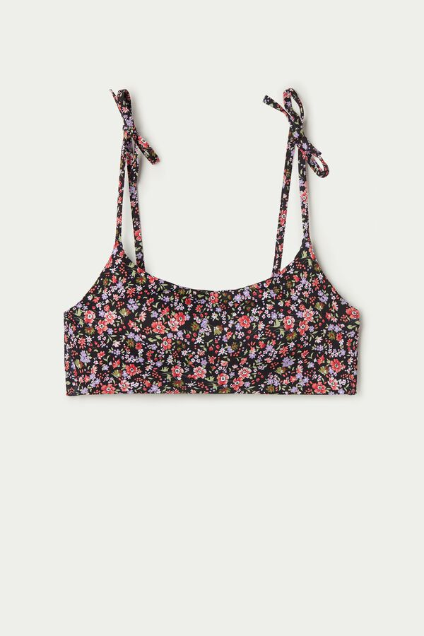 Microflower Padded Brassiere Bikini Top