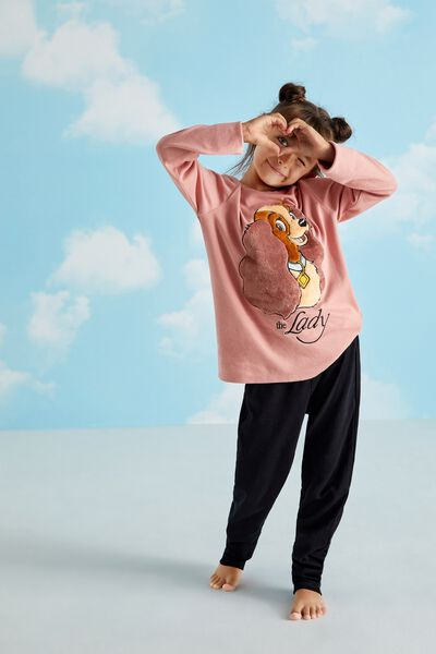 Disney Long Cotton Pyjamas with Lily Patch